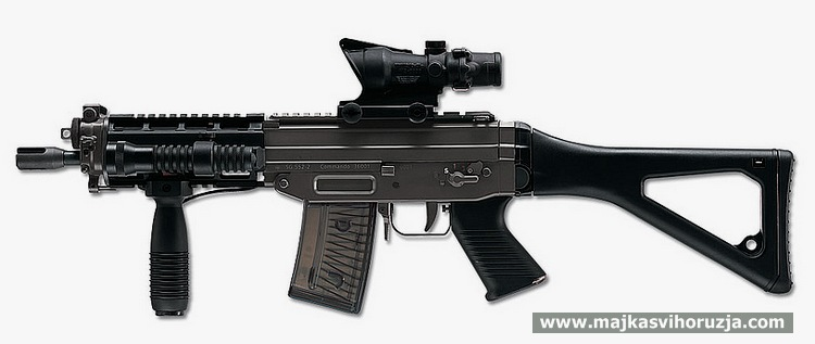 Swiss Arms SG 553 SB with accessories
